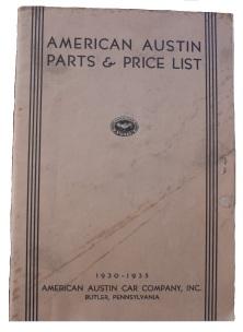 American Austin Factory Literature
