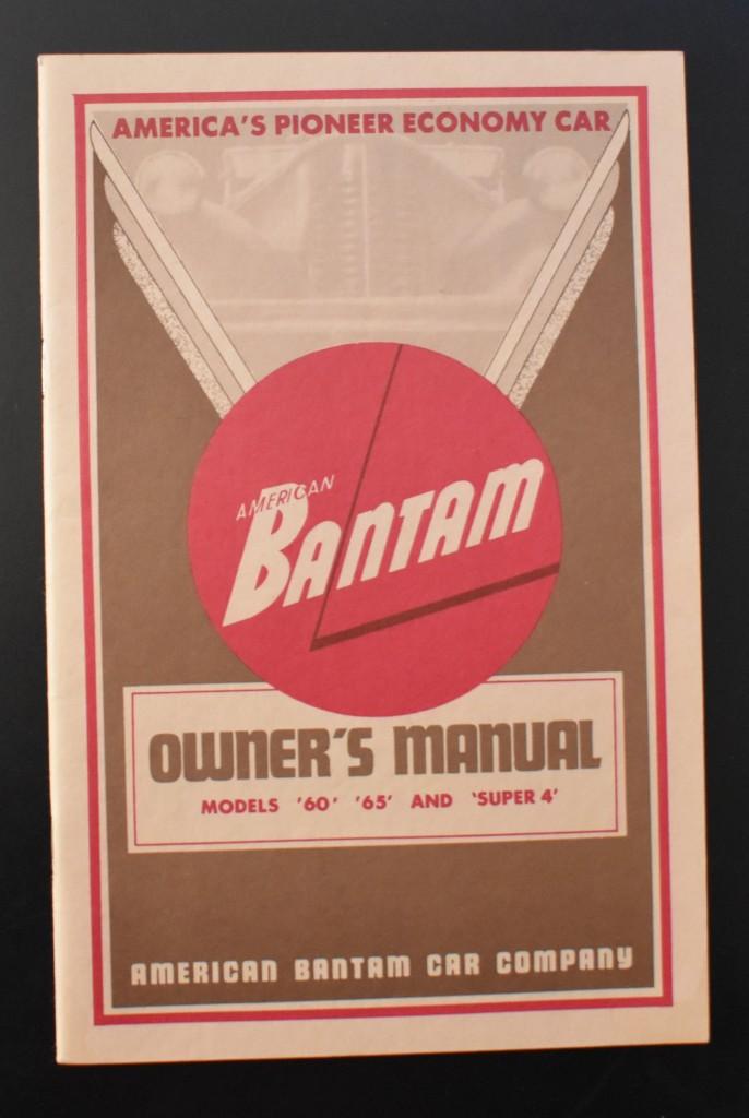 Cunningham Bantam Manual 1