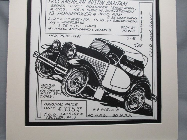 Austin Drawing roadster