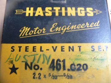 American Austin Piston Rings 1930 1931 1932 1933 1934