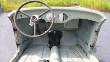 1939 Bantam Roadster Project Missouri Dashboard and excellent floors