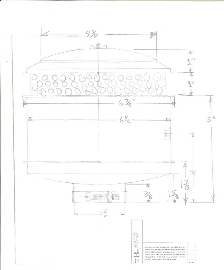 65 series air cleaner drawing