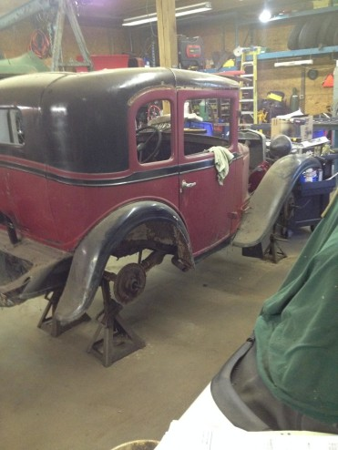 1930 American Austin Coupe Project For Sale Rear View