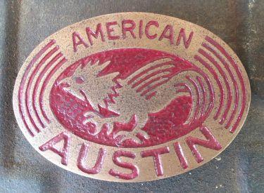 american austin radiator badge a a