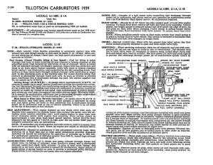 1939 Bantam Carb Data