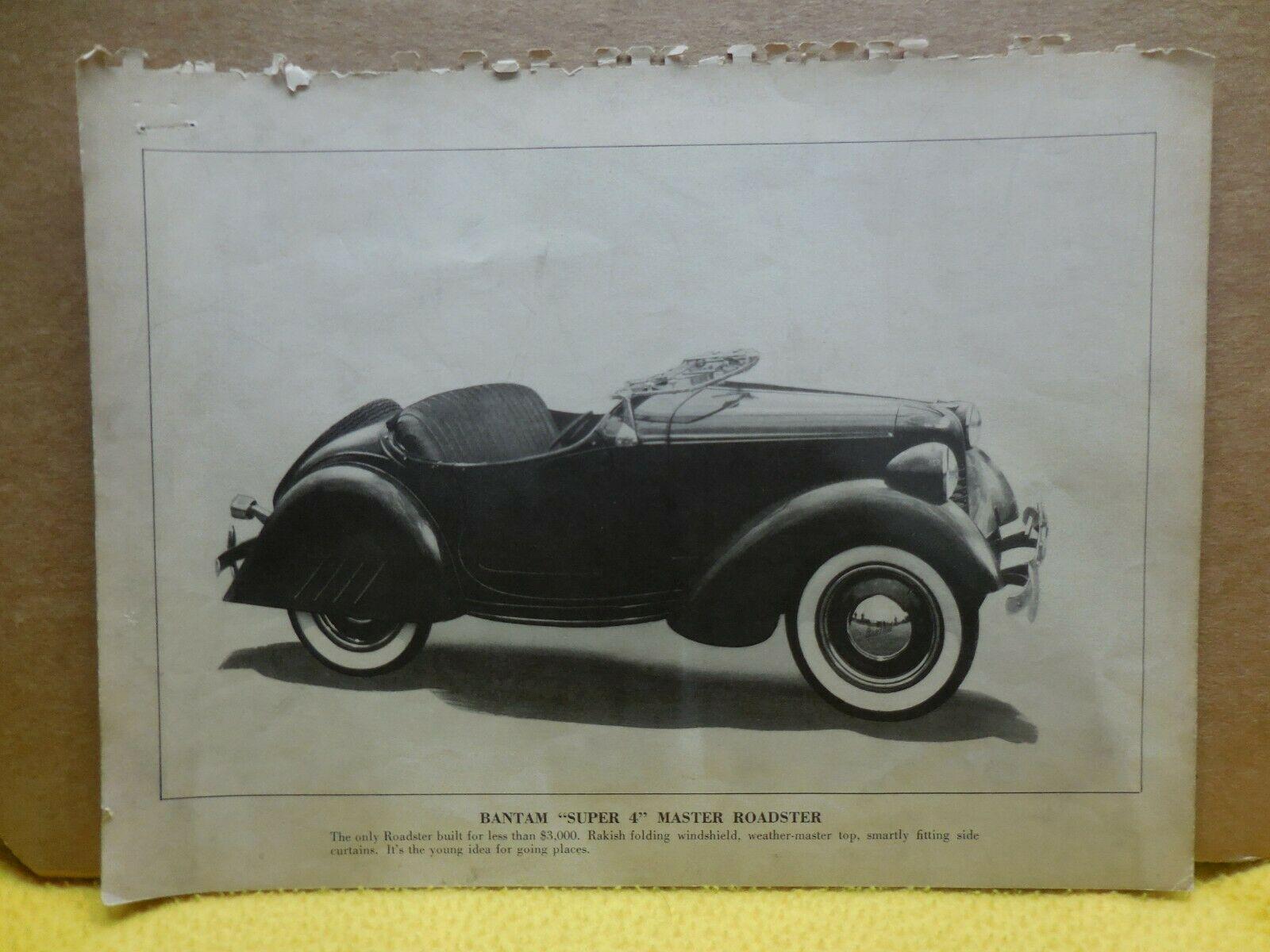1940 Bantam Roadster Factory Photo