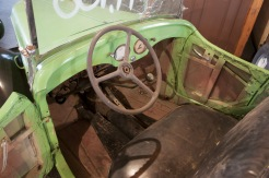 1938 American Bantam Roadster- Interior, solid wood and metal. Seller has steering column support clamp