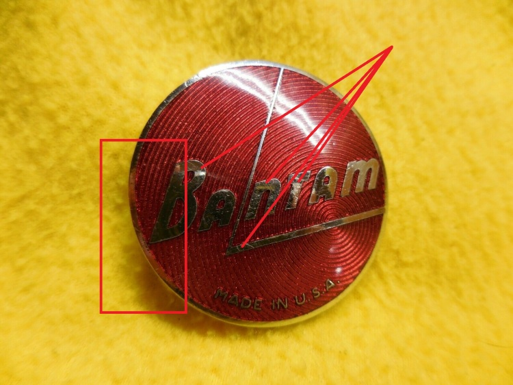 American Bantam Emblem damage