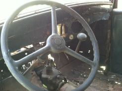 interior dash and steering wheel