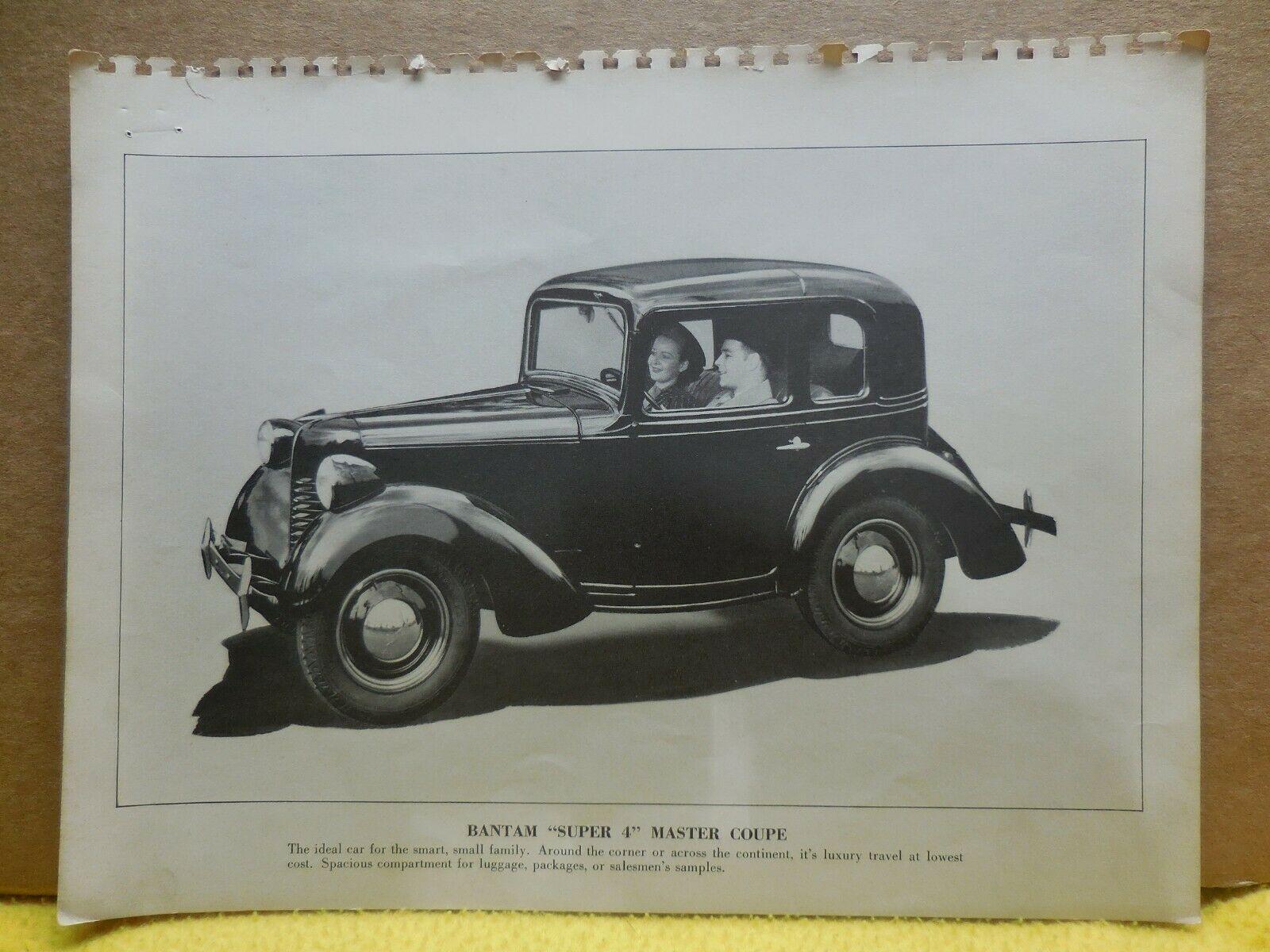 1940 Bantam Master Coupe Factory Photo