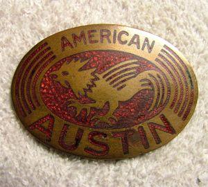 American austin radiator badge