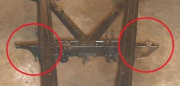 1940 bantam truck frame - exhaust