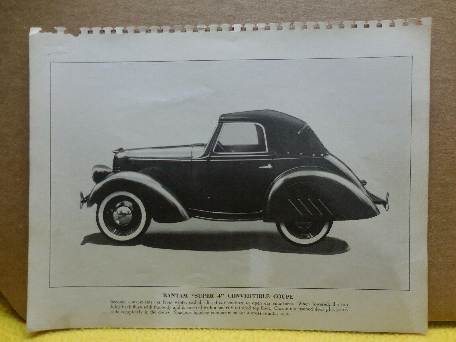 1940 Bantam Convertible Coupe Factory Photo