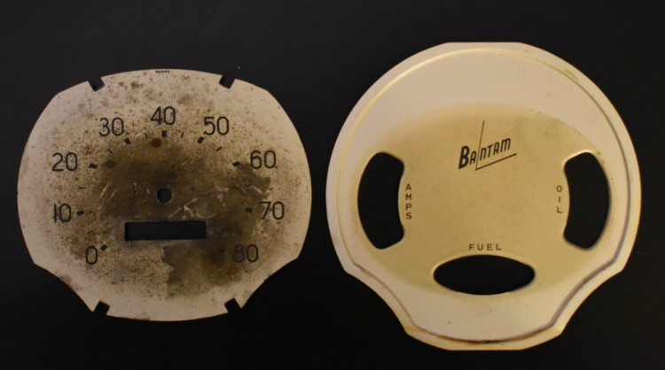 Bantam Speedometer Pearl Face comparison