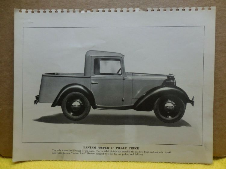 1940 Bantam Pickup Truck Factory Photo