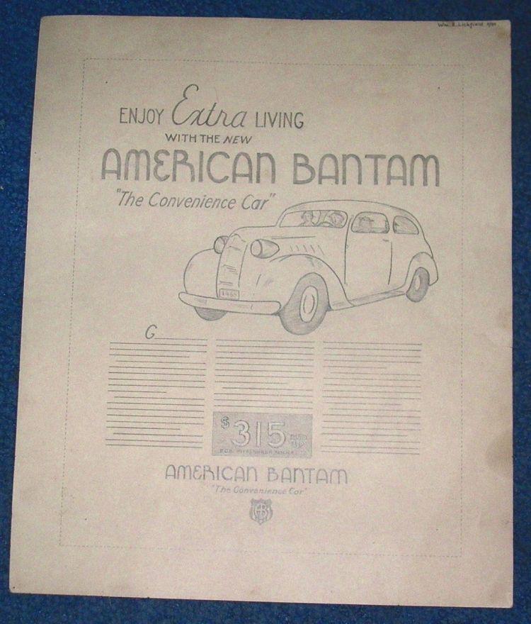 Alternative Bantam Advertisement 1