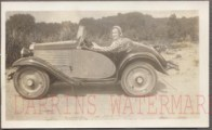 American Austin Roadster Woman In Car