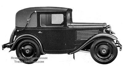 American Austin Cabriolet Factory Rendering