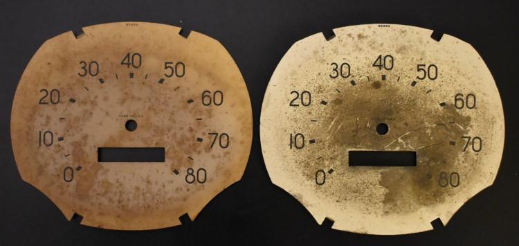 Bantam Speedometer Face Comparison