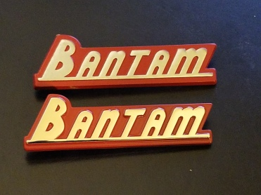 1940 American Bantam Badge Reproduction Comparison 1