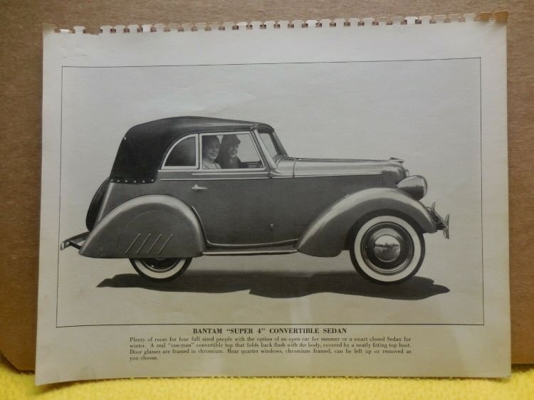 1940 Bantam Convertible Sedan Factory Photo