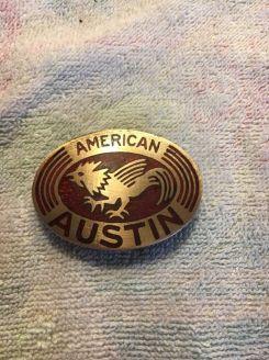 american austin radiator badge b 2