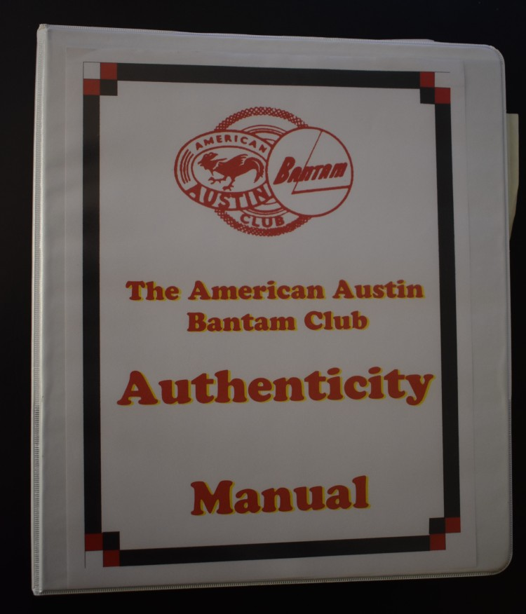 AABC Authenticity Manual First Ed 1