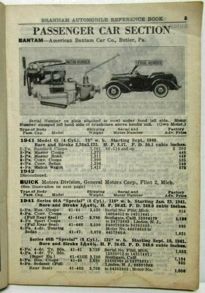 1950 Branham Automobile Reference Book 3
