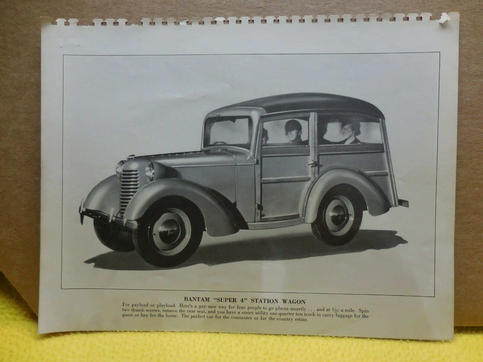 1940 Bantam Station Wagon Factory Photo