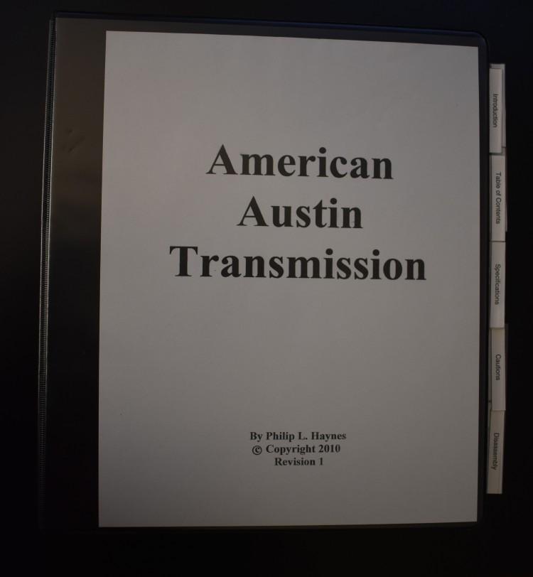 Phil Haynes Austin Transmission Manual