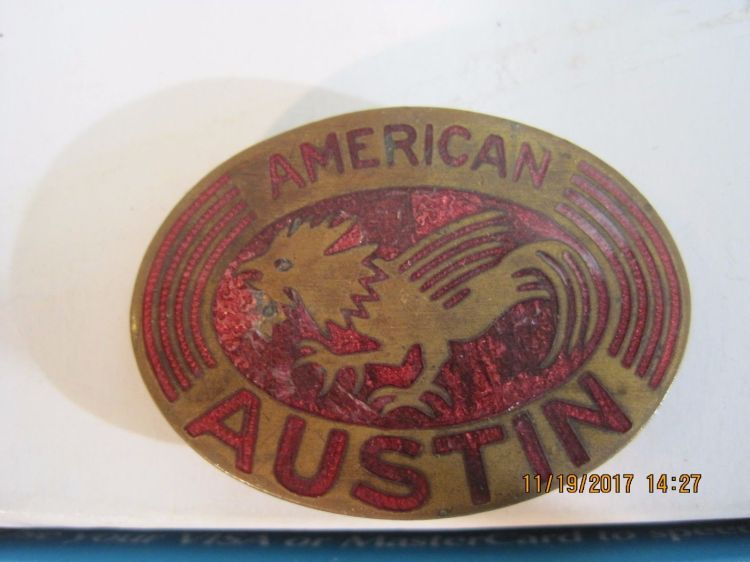 American Austin Radiator Badge
