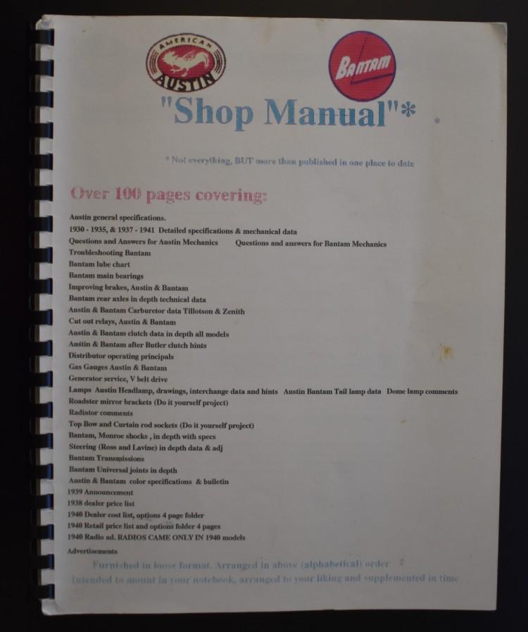 ABS Shop Manual